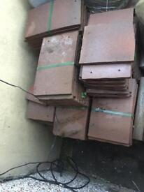Roof peg tiles new. Roughly 400