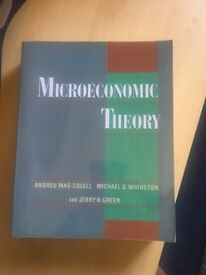 Microeconomic Theory, Andreu Mass-Colell, Michael D Whinston and Jerry R.Green