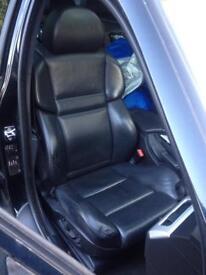 BMW M5 black leather interior