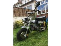 Modified Sky team Honda dax monkey bike