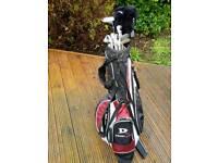 Golf Donnay Clubs, Concept Driver, Wilson lightweight stand bag, ideal starter kit