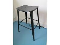 Habitat black tall stool