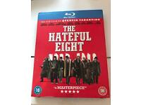 The hateful 8 blu ray , watched once £8