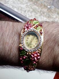 Ladies Floral Watch