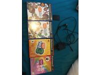 PlayStation 2 games, eye toy and memory card