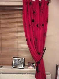 Two sets of Red Curtains