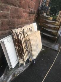 Cast iron radiators vintage shabby reclaimed