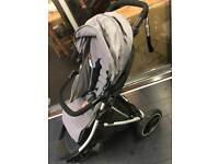 Phil & Teds DASH - Grey. Inc. carry cot/sun&rain covers/stand BRAND NEW FRAME