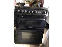 Hotpoint Double Fan Electric Oven Ceramic Hob 2 Years Old