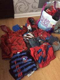 massive bundle of boys clothes mostly 3-4 marvel, Zara etc