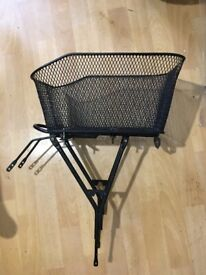 Bike's basket with pannier rack B'twin