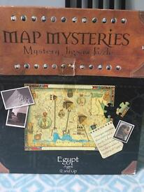 Egyptian Map Mysteries puzzle and Hieroglyphs game.
