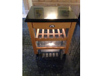 Granite-topped Cargo Butcher's Block Storage Trolley, substantial bit of furniture and good as new