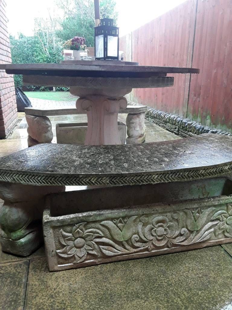 Stone garden furniture and troughs