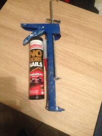 mastic silicon gun none drip + no more nails unibond BOTH FOR £3 pick up from gorleston white