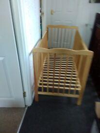 Light wood cot