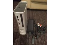 Xbox 360 console and power/video leads