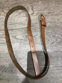 Tan ladies leather belt