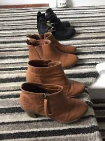 Ladies boots size 6 & 7