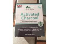 BNIB. NU U NUTRITION. ACTIVATED CHARCOAL TEETH WHITENING POWDER.