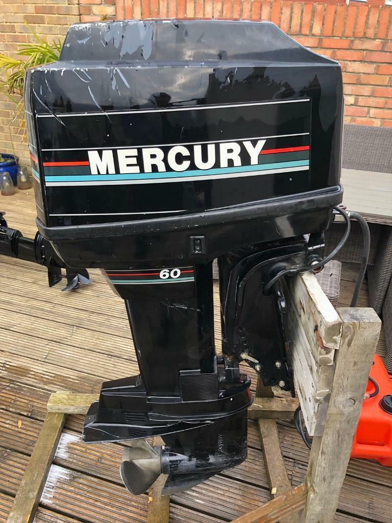 Mercury 60hp 2 stroke longshaft outboard   in Southsea, Hampshire   Gumtree