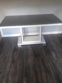Like new grey and white marble effect table