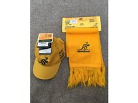 Australia Wallabies peak cap and scarf **BRAND NEW **
