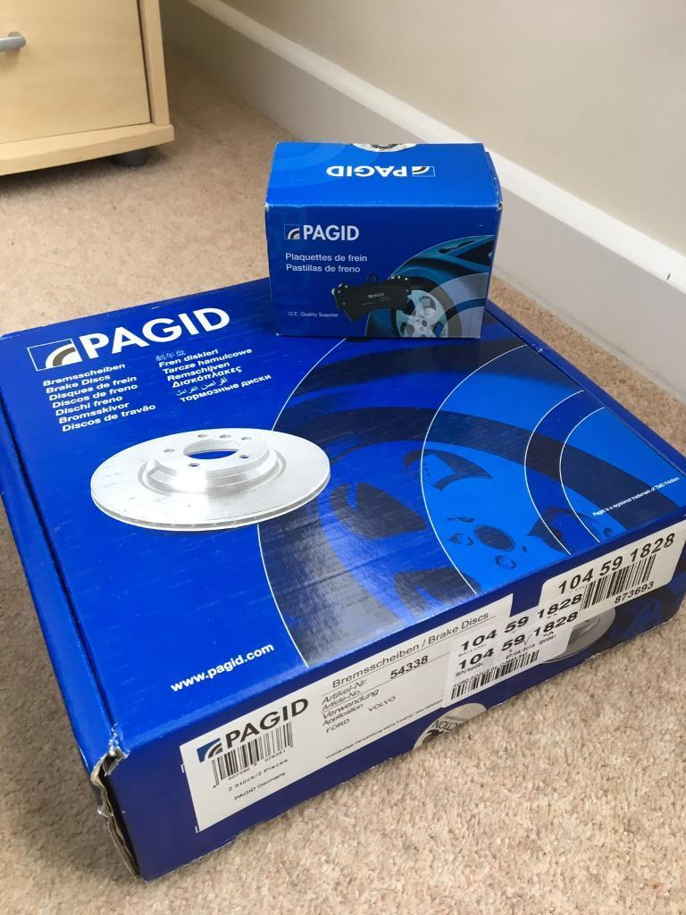 Brand new Pagid rear brake discs and pads