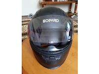 Leopard MOTORBIKE HELMET in GREAT condition - original price £50 selling for £25 (HALF PRICE)