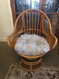 A fab vintage bamboo chair fantastic condition