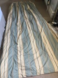2nd hand long designer and lined striped curtains
