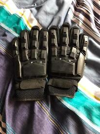 Airsoft black protective gloves