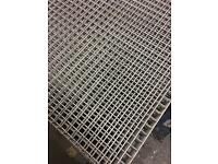 Galvanised mesh panels 3,1/2 feet x 4.1/2 feet