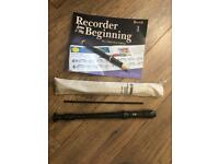 Recorder with beginners book