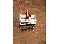 Wine rack...shabby chic