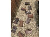 Clay garden edging, terracotta clay edging tiles