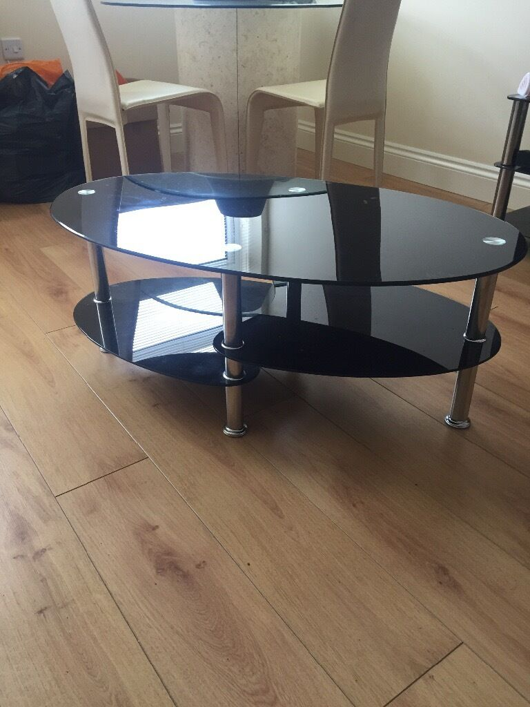 Black tempered glass coffee table | in Southampton ...