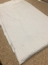 Blue gingham little white company curtains. 135x 137