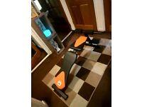 Black an orange work out bench