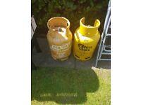 Butane gas bottles x2