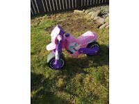 Pink motor bike
