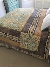 Beautiful embroidered Indian wall hanging, bed cover, sofa cover, rug
