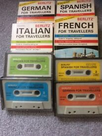 Language Books/tapes Italian,German,French,Spanish For Travellers complete £5 ono 07805 885056