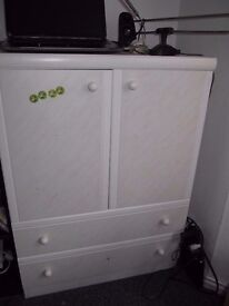 lovely and practical, white cupboard (W-78.5, h-108.5, d-45)