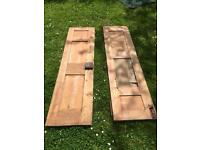 Pair of Very Old Wooden Panel Doors