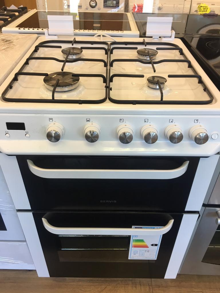 SERVIS 60CM BRAND NEW ALL GAS COOKER IN WHITE WITH LODin Bransholme, East YorkshireGumtree - SERVIS 60CM all gas cooker in white • 60cm wide • brand new • with lid • all gas cooker • double oven and grill • in white • fully complete • guaranteed • less than 1 year old all our items are in perfect condition and in perfect...