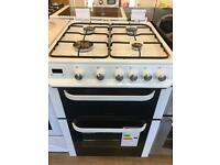 SERVIS 60CM BRAND NEW ALL GAS COOKER IN WHITE WITH LOD