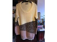 Asda long jumper dress size 14