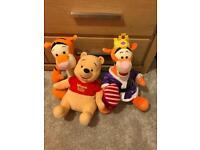 Winnie the poo and tigger teddys
