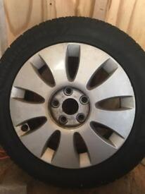 4 Audi A3 tyres and alloys £120